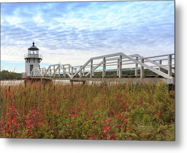 Doubling Point Lighthouse In Maine Metal Print