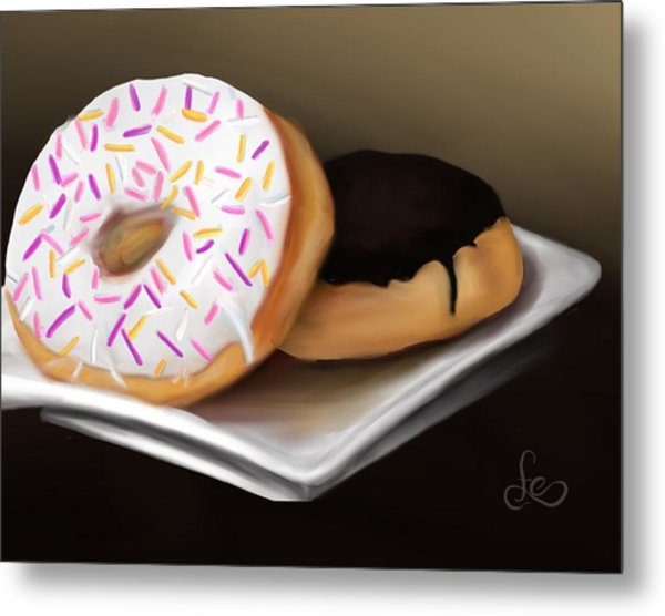 Metal Print featuring the painting Doughnut Life by Fe Jones