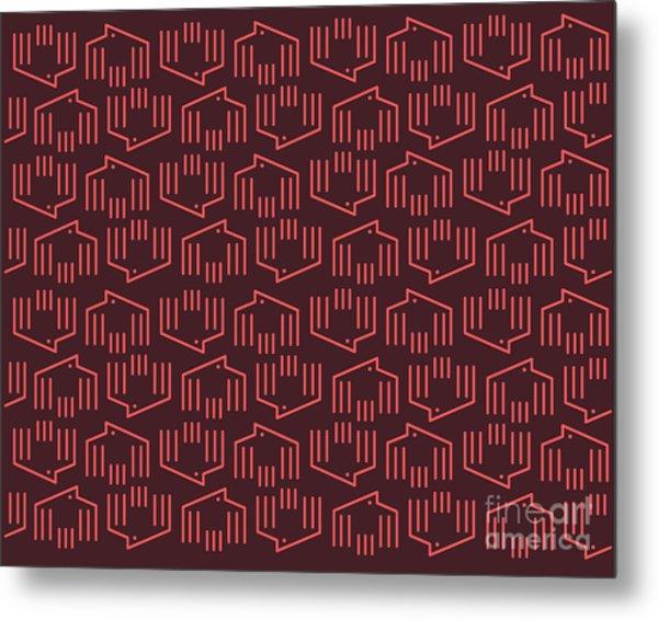Doves Pattern C Metal Print