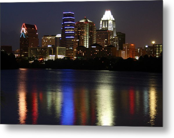 Downtown Austin Skyline Metal Print by Xjben