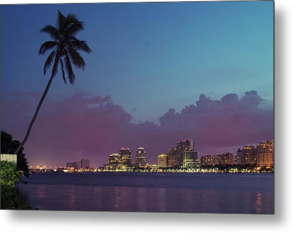 Downtown Lights, West Palm Beach Metal Print