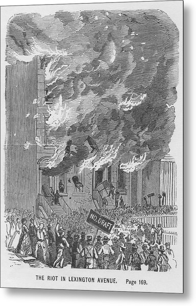 Draft Riots Metal Print by Kean Collection