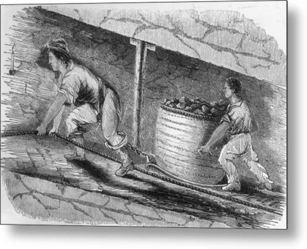 Dragging Coal Metal Print by Hulton Archive