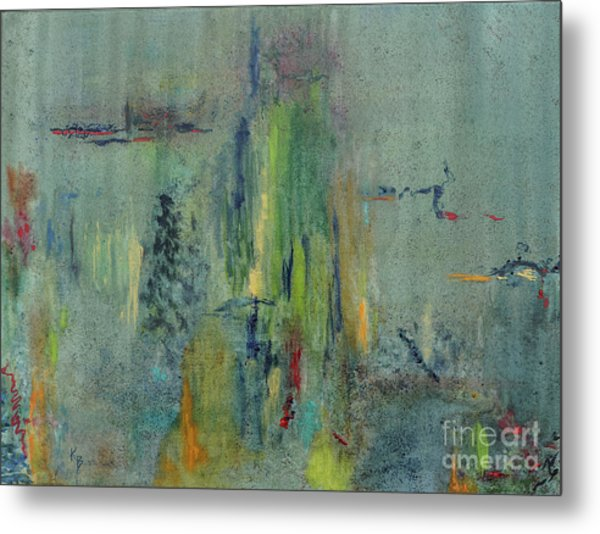 Metal Print featuring the painting Dreaming #1 by Karen Fleschler