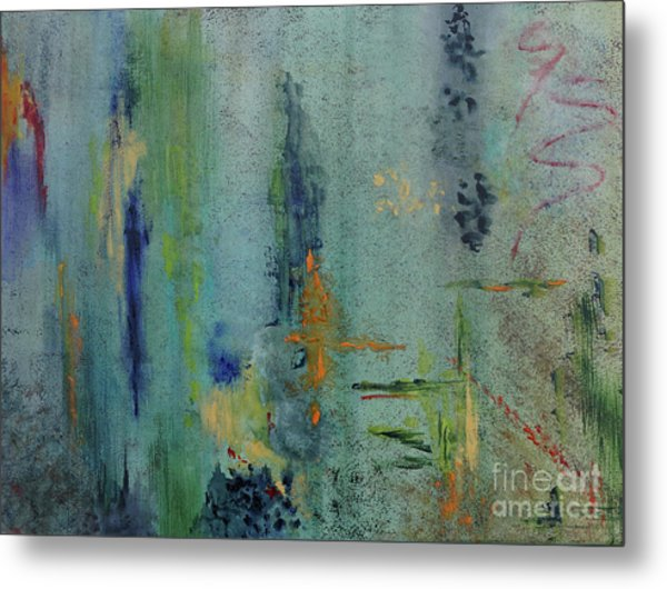 Metal Print featuring the painting Dreaming #3 by Karen Fleschler