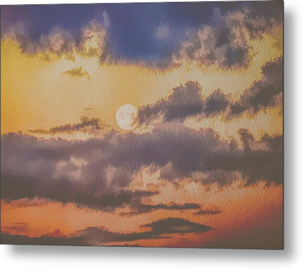 Dreamy Moon Metal Print