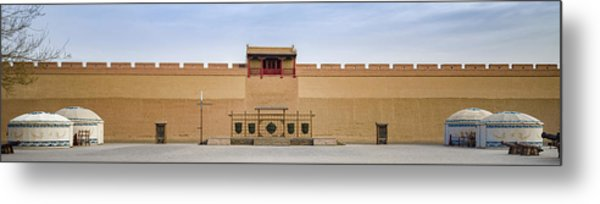 Drill Field Guan City Jiayuguan Gansu China Metal Print