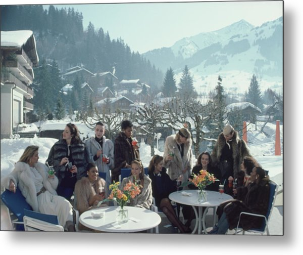 Drinks At Gstaad Metal Print