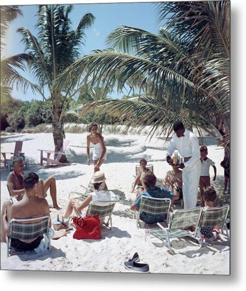 Drinks On The Beach Metal Print by Slim Aarons