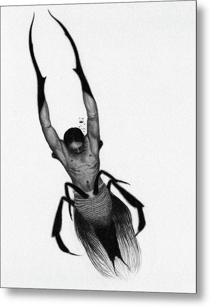 Drowned Samurai Kaito - Artwork Metal Print