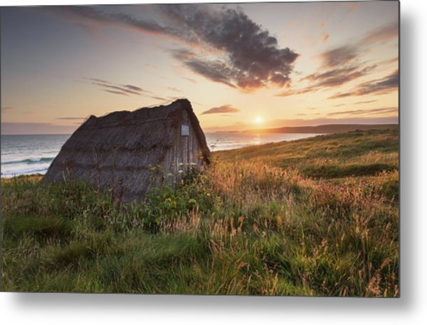 Metal Print featuring the photograph Drying Hut - Freshwater West by Elliott Coleman