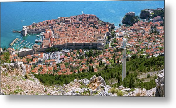 Dubrovnik Panorama From The Hill Metal Print