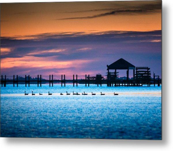 Duck Sunset - Outer Banks North Carolina Metal Print
