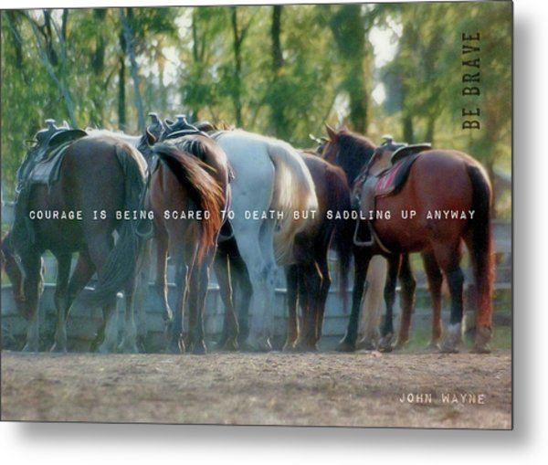 Dude Ranch Quote Metal Print by JAMART Photography