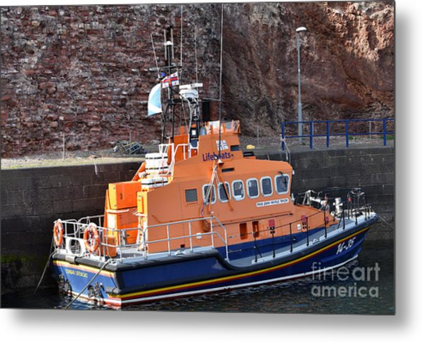 Dunbar Lifeboat Metal Print by Yvonne Johnstone