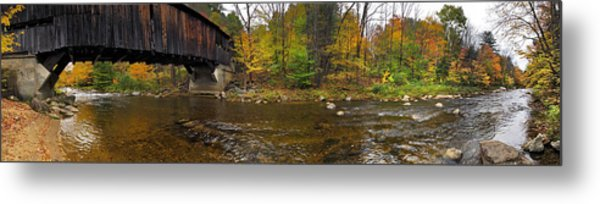 Metal Print featuring the photograph Durgin Covered Bridge - North Sandwich, Nh by Joann Vitali