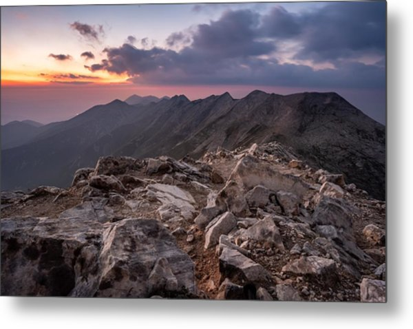 Dusk At Peak Vihren  Metal Print
