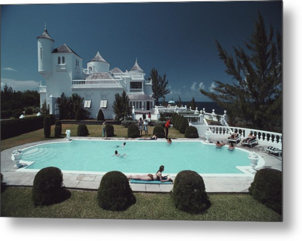 Earl Levys Castle Metal Print by Slim Aarons