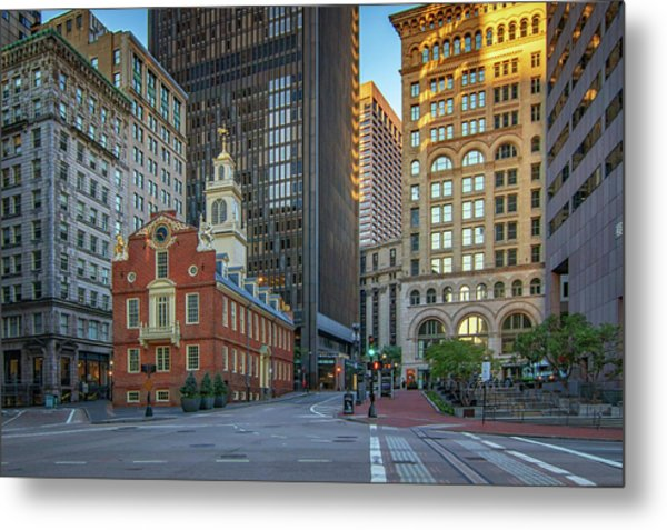 Early Morning At The Old Statehouse Metal Print