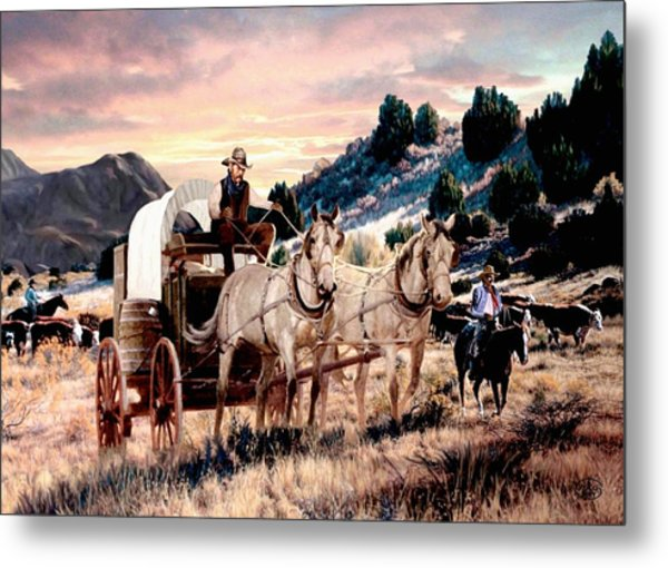 Early Morning Drive  Metal Print