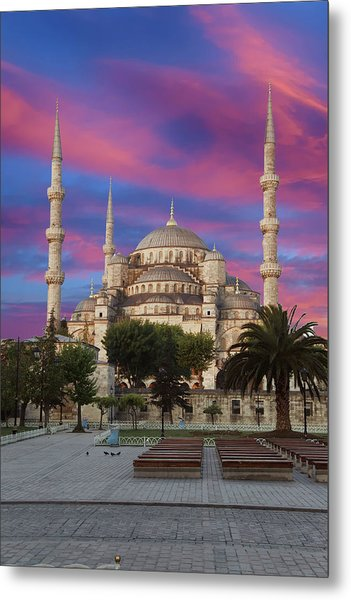 Early Morning Light On  Sultan Ahmet Camii Metal Print