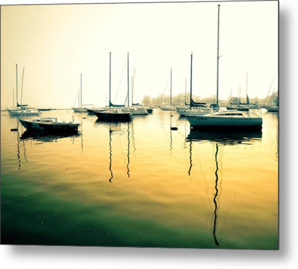 Early Mornings At The Harbour Metal Print
