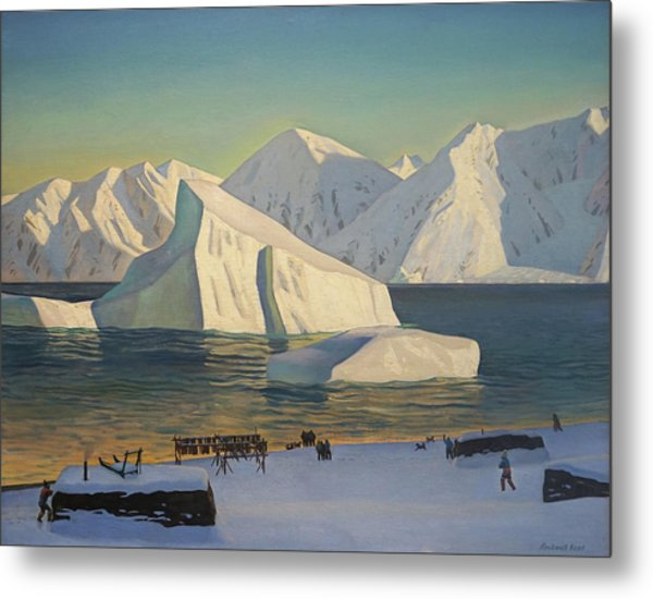 Early November North Greenland Metal Print by Rockwell Kent