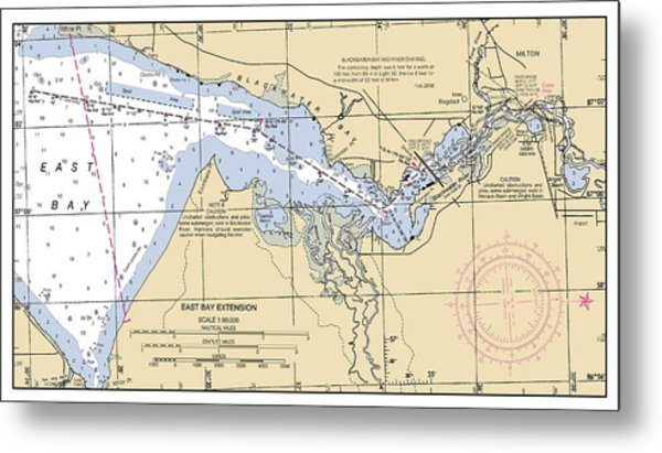 East Bay Extension Noaa Chart 11385_5 Metal Print