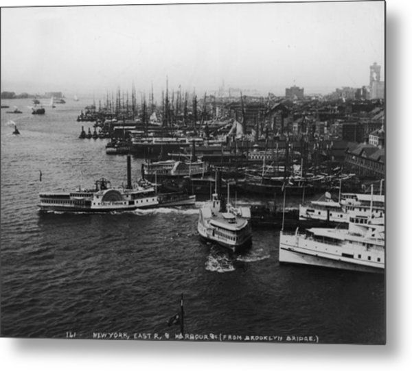 East River Harbour Metal Print by P. L. Sperr