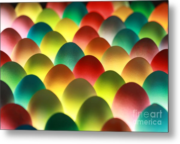 Easter Eggs Background Metal Print