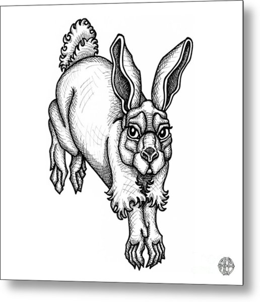 Eastern Cottontail Metal Print