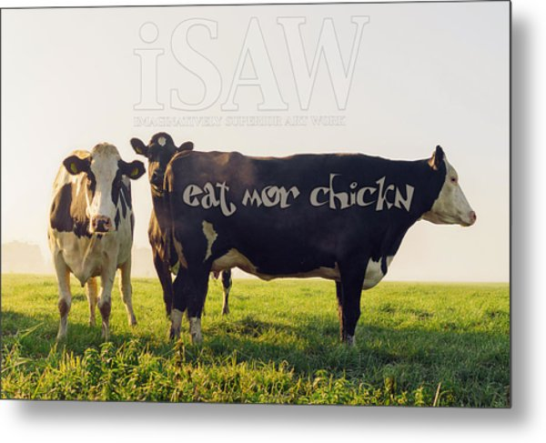 Eat Mor Chickn Metal Print