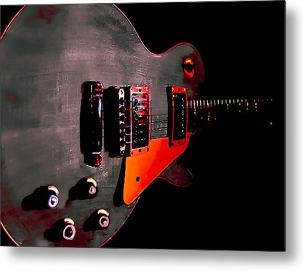 Ebony Relic Guitar Hover Series Metal Print