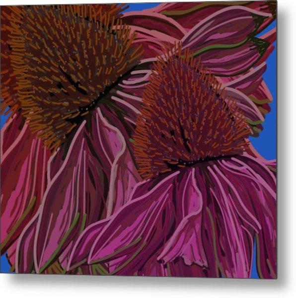 Echinacea Flower Blues Metal Print