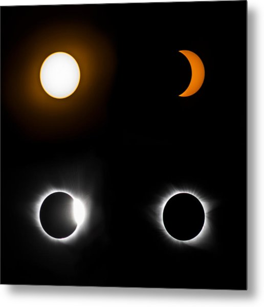 Eclipse Phases Metal Print by Christine Buckley