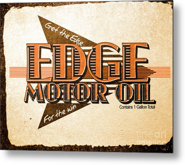 Edge Motor Oil Tin Sign Metal Print