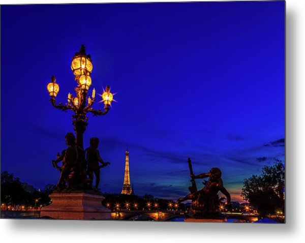 Eiffel From The Pont Alexandre Metal Print