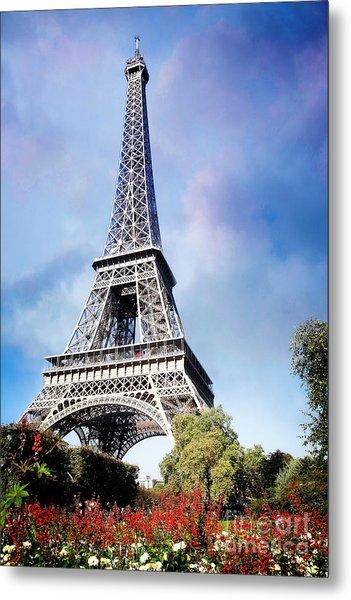 Eiffel Garden Metal Print