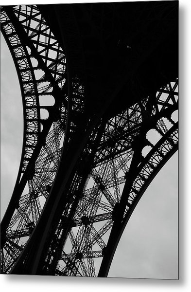 Metal Print featuring the photograph Eiffel Tower, Base by Edward Lee
