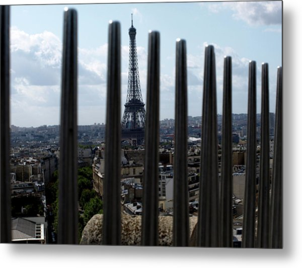 Metal Print featuring the photograph Eiffel Tower, Distant by Edward Lee