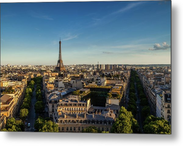 Eiffel View Metal Print