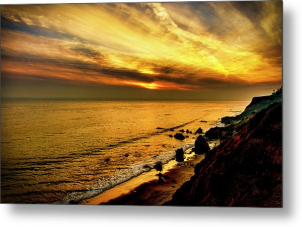 El Matador Beach Sunset Metal Print