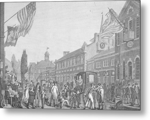 Election In Front Of State House, Pa Metal Print by Kean Collection