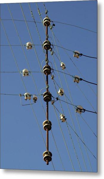 Electric Wires Junction Metal Print