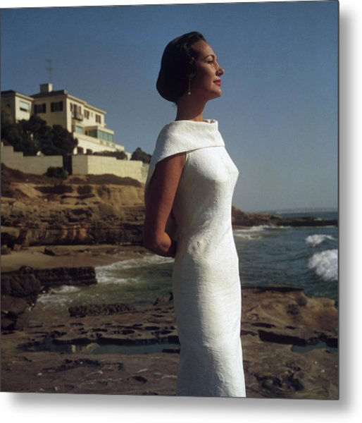 Elegance On The Beach Metal Print by Slim Aarons