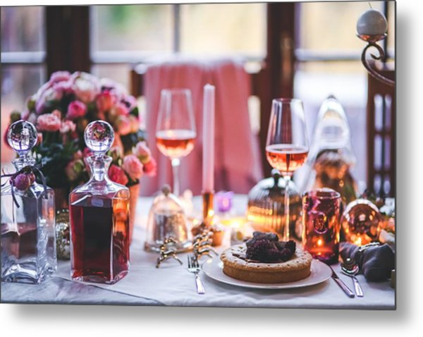 Elegant Tablewear Metal Print