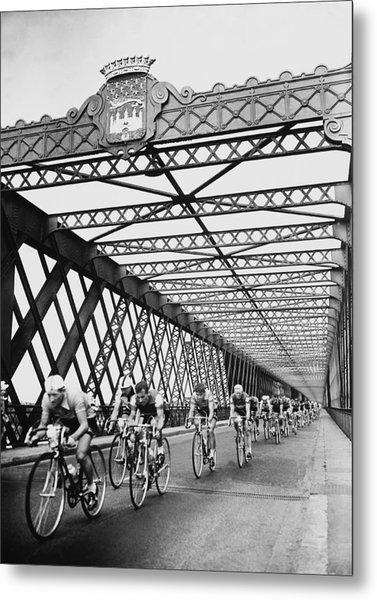 Eleventh Leg Of Tour De France In Metal Print