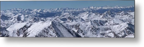 Elk Mountains Of Colorado In Late Metal Print by Photo By Matt Payne Of Durango, Colorado