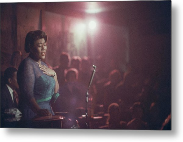 Ella Fitzgerald Performs Metal Print