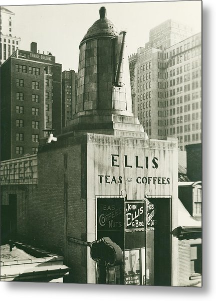 Ellis Tea And Coffee Store, 1945 Metal Print